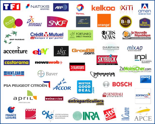 Formation referencement web: logos de quelques entreprises venues chez Ranking Metrics
