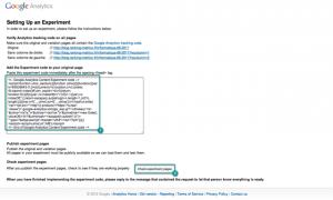 3. Ajouter et vérifier le code de test - email webmaster