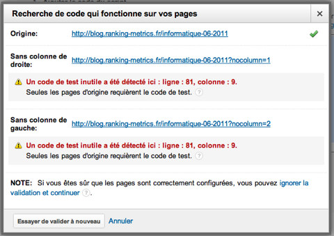 3. Ajouter et vérifier le code de test - vérification erreur 2